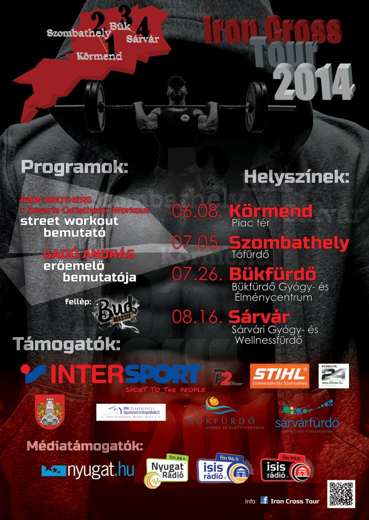 Iron Cross Tour 2014 plakát végleges